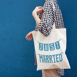 [영국직수입] 캔버스백 just married Bag