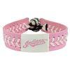Cleveland Indians Pink Leather Baseball Bracelet