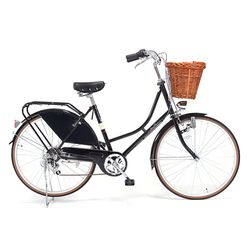 BIRKIN Dutch Bike series Shimano 6 speed+Dutch Dress Guards(블랙)+Oval Rattan Basket
