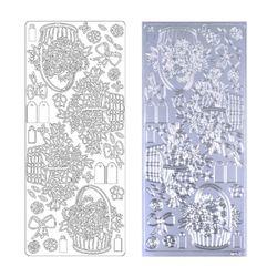 라인스티커 Silver-0254