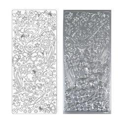라인스티커 Silver-0492