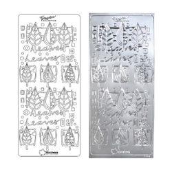 라인스티커 Silver-1142