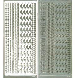 라인스티커 Silver-2098