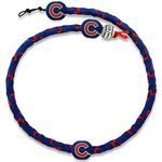 Chicago Cubs Team Color Frozen Rope Baseball Necklace