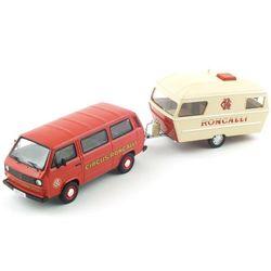 [~8/22까지] VOLKSWAGEN T3a Bus Wohnanhanger Circus Roncalli 한정판 (PC620125RE) 폭스바겐 캠핑카