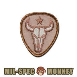 [Mil-Spec Monkey] Bull Skull (Desert) - 밀스펙 몽키 패치 불 스컬 0102 (데저트)