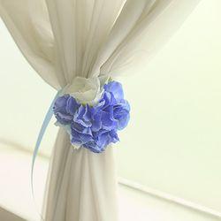 로맨틱 로즈수국 커텐집게 블루 바이올렛