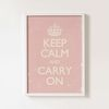 KEEP CALM AND CARRY ON pink [액자포함 아트프레임 빈티지 북유럽 포스터 판다프렘]