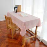 워싱 핑크 체크 테이블 커버 (L 사이즈: 110cmx175cm)