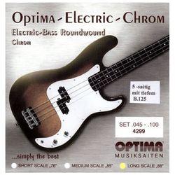 옵티마 Optima 베이스기타스트링 크롬-니켈 라운드와운드 4299B (045-125)