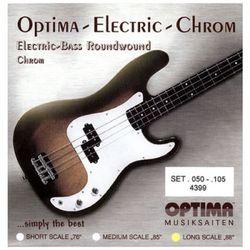 옵티마 Optima 베이스기타스트링 크롬-니켈 라운드와운드 4399 (050-105)