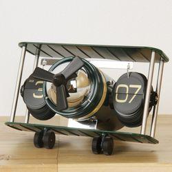New 클래식 비행기 플립 탁상시계