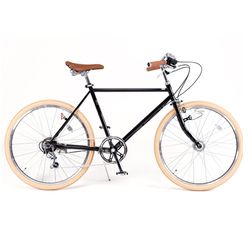 DISC VILLE 920 English Classic Road Bike Auto Sensor Light & 7 speed+Basket