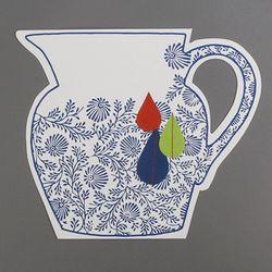 Paper 2D vase_Modern vase B (with sewing)