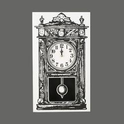 Paper clock_Grandfather clock_black