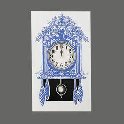 Paper clock_Cuckoo clock_blue