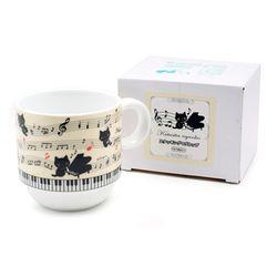 쿠츠시타냥코 피아노 머그컵