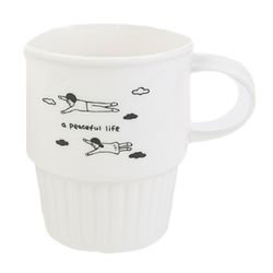 ECO CAFE MUG - a peaceful life