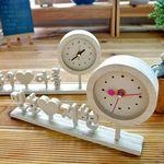 자작나무 한글 이니셜 시계 땡글 K
