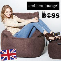 영국 브랜드 엠비언트라운지 1인용 빈백쇼파 The Boss Chair-Mother Earth초코