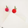 손뜨개 책갈피-단색 사과