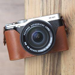 Fujifilm X-M1 & X-A1 & X-A2 속사케이스 - 브라운