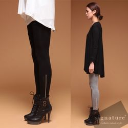 100 Cotton Zipper Leggings