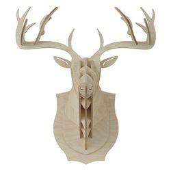 Wood사슴머리장식 헌팅 트로피 (S size) Deer hunting trophy