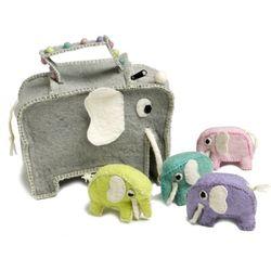 Elephant Bag with Baby Elephants