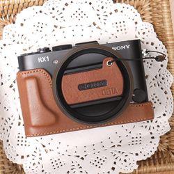 Sony RX1RX1R 겸용 속사케이스 + 캡스킨 - 브라운