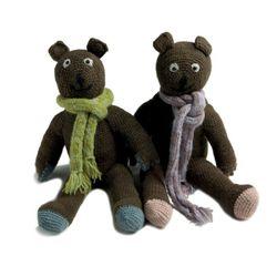 Muffler Bear Green & Purple