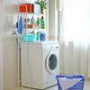 화이트 세탁기 선반(선반형 의류행거)
