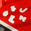 [우드스티커] 크리스마스아이콘 (반제품) - 입체우드 월데코  포인트 우드스카시 벽장식