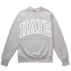 HATE RUDE SWEAT SHIRTS (GREY MELANGE)