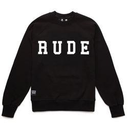 RUDE NOT BAD BOYS SWEAT SHIRTS (BLACK)