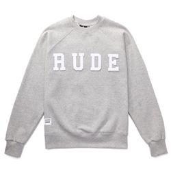 RUDE NOT BAD BOYS SWEAT SHIRTS (GREY MELANGE)
