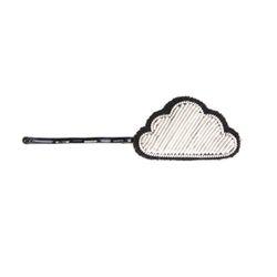 [Macon&Lesquoy] 마콩 자수헤어핀_구름