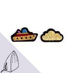 [Macon&Lesquoy] 마콩 자수패치_보트와 구름