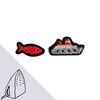 [Macon&Lesquoy] 마콩 자수패치_보트와 물고기