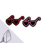 [Macon&Lesquoy] 마콩 자수패치_핑크와 레드 선글라스