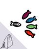 [Macon&Lesquoy] 마콩 자수패치_물고기