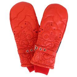 [스노우보드 벙어리 가죽장갑] JUNIPER MITT-RED(여성용)