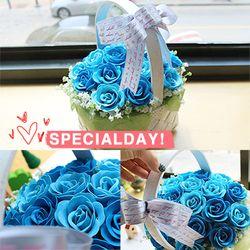 비누장미꽃바구니 - 파랑