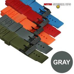 [MTM] Colored Silicon Rubber Watch Straps Gray - 엠티엠 실리콘 루버 스트랩 (그레이)