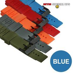 [MTM] Colored Silicon Rubber Watch Straps Blue - 엠티엠 실리콘 루버 스트랩 (블루)