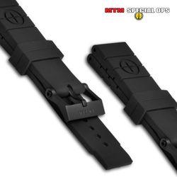 [MTM] MTM Natural Rubber Watch Straps Style 2 Black - 엠티엠 내츄럴 루버 스트랩 스타일2 (블랙)