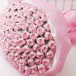 종이장미접기 100송이 꽃다발만들기 핑크