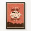 Fair trade coffee 공정무역 커피 [빈티지 카페 포스터 액자 포함 아트프레임 판다프렘]