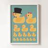 Rubber duck family [북유럽액자 아트프레임 일러스트 카페 포스터 판다프렘]
