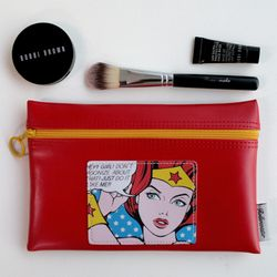 Pop Art Flat-B Pouch - Wonder Woman